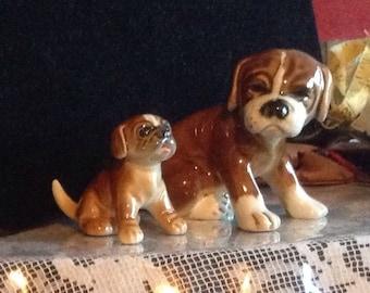 2 Goebel West Germany Boxer Dogs