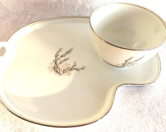 Noritake China Snack Plate and Cup - Candace Pattern (c.1959-1964)