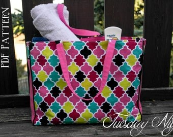 Maddie Beach Bag Large Tote PDF Pattern