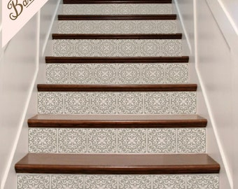Tile decal etsy - Stickers pour marche d escalier ...