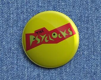 The Psyclocks Psychobilly button