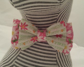 Dog Bow Tie Spring, Floral, Flower, Collar Accessory