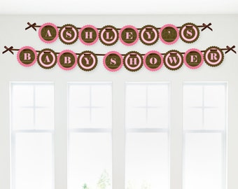 Pink Elephant Garland Banner - Custom Party Decorations