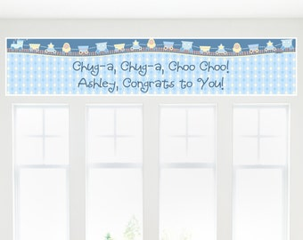 Train Banner - Custom Baby Shower or Birthday Party Decorations