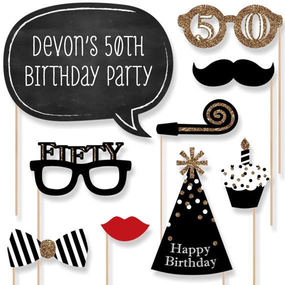 50th Birthday Party Photo Booth Props Adult By