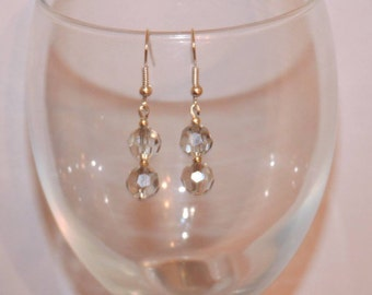 Glass crystal handmade earrings