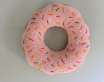 Strawberry Sprinkle Felt Doughnut
