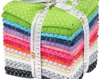 40% Off! -FQ-819-16  Spot On- New Colors  by Robert Kaufman 16 Fat Quarter Bundle- FREE Shipping