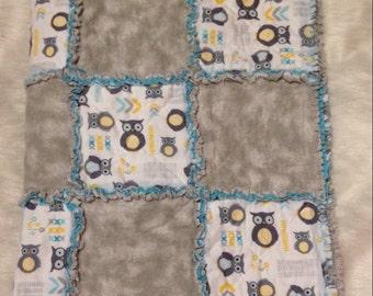 Infant Owl Rag Quilt