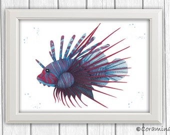 "Artprint ""firefish"" limited edition"