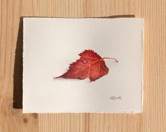 Original Leaf Watercolor Painting (Leaf One)