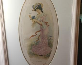 Gorgeous Antique Victorian Picture!