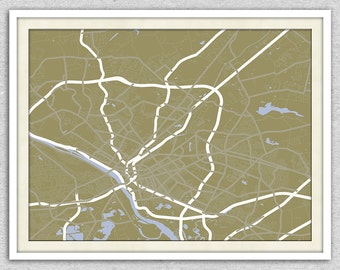 Trenton Map Art | New Jersey Print Wall Art | Choose from 6 Styles | Archival Ink | 8x10 Canvas | 50% goes to Charity