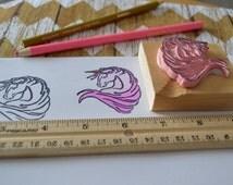 Unicorn Rubber Stamp, Scrapbook Stamp, Unicorn, Unicorn Stamp, Greeting Card Stamp, Craft Stamp, Stamp, Scrapbook Supply, Art Stamp, journal