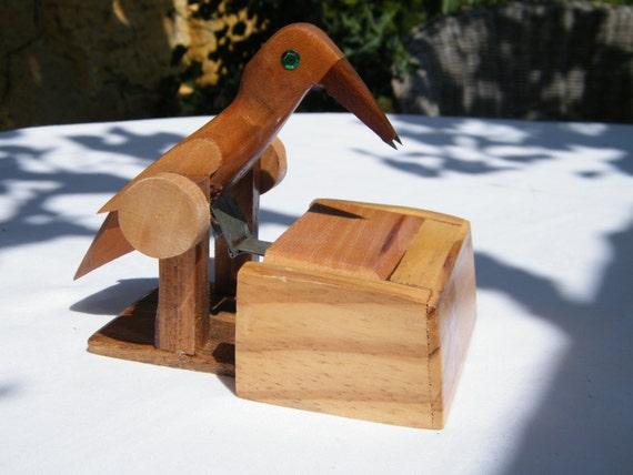 Wooden bird toothpick holder - Toothpick dispenser bird ...