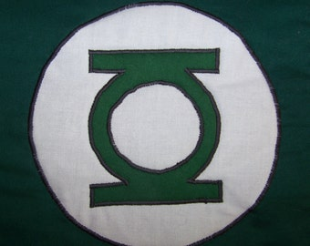 Green Lantern Mini-Quilt Wall hanging or tote bag