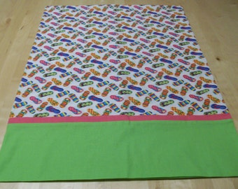 Flip Flops summertime pillowcase