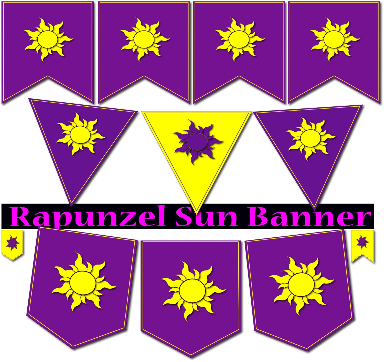 Rapunzel banner Rapunzel flags Rapunzel party printable