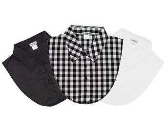 IGotCollared Dickey Collars - The Prepster Pack in Black, White, Plaid - aka Detach Collars, Detachable Collars, Dickies,  Blouse Collar