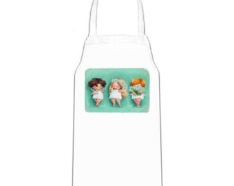 Apron with a fairy by Elina Ellis,  woman apron