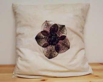 recycled repurposed reconstructed upcycled vintage pillow
