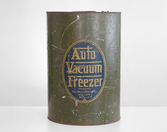 auto vacuum freezer, vintage ice cream freezer, antique ice cream freezer, ice cream freezer