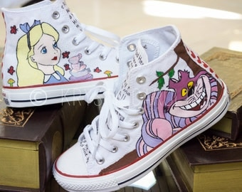 Alice in Wonderland Custom Converse Shoes