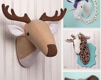 Simplicity Pattern 1218 Plush Stuffed Animal Heads