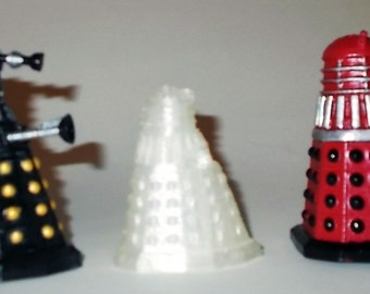 Dalek Salt and Pepper Shakers Now 25% Larger! - Dr Who Salt and Pepper Shakers - Dalek Decor - Dalek Kitchenware - Doctor Who Shakers