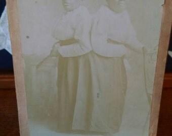 The Carolina Twins Ivorytype Photograph 1870's