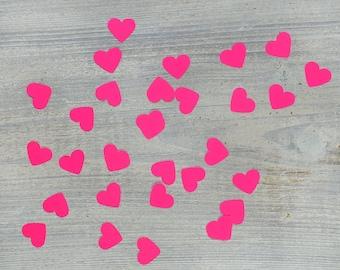 heart confetti neon pink
