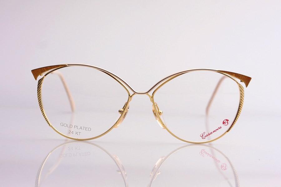 Gold Plated Glasses Frames : Vintage Glasses Casanova gold plated 24K 80 Frame