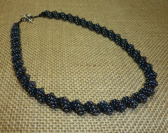 Dark Nebula Cellini Spiral Necklace