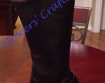 Monogrammed Two-Toned, Color-Block Riding Boots-SG Style