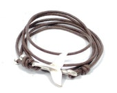 men whale tail bracelet, mens rustic leather bracelet, men wrap bracelet, whale hook, whale bracelet, mens jewelry, gifts for dad