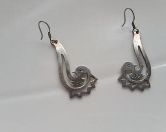 Sterling Chandelier Bird Earrings