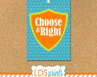 PRP001 - 2017 PRIMARY THEME Choose The Right CTR Printable Multiple Sizes 3x4 4x6 5x7 8x10