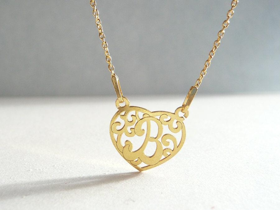b pendant necklace letter charm necklace b initial b