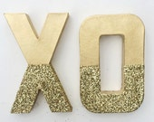 Customizable Glitter Letters And Numbers  / Gold And Silver Letters / Custom Home Decor