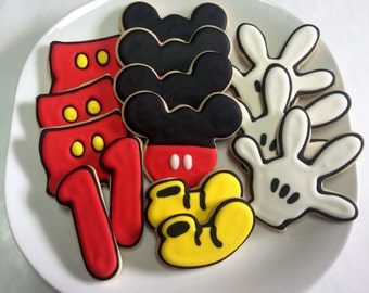 Mickey Mouse Variety Cookies - One Dozen