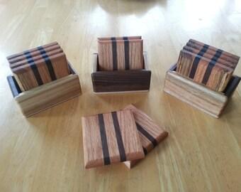 Handmade 4 Pc. Hardwood Coaster Set