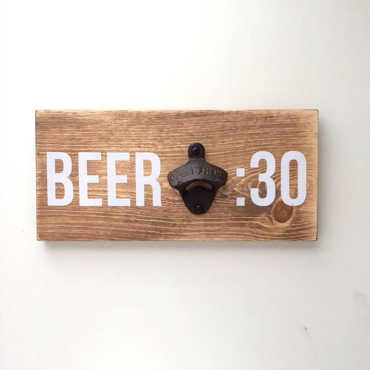 wall mounted bottle opener rustic bottle opener wood bottle. Black Bedroom Furniture Sets. Home Design Ideas