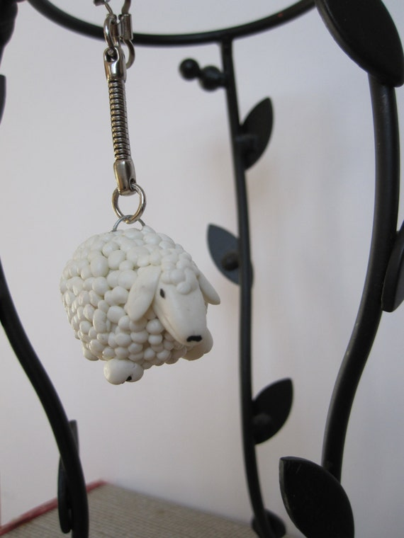 Little sheep key ring COLD PORCELAIN