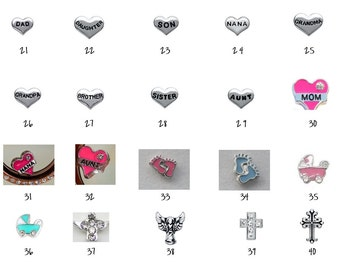 Floating Locket Charms 21-40