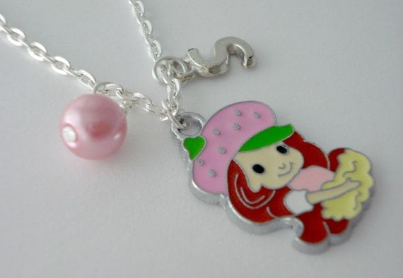 Strawberry shortcake personalized childrens by for Strawberry shortcake necklace jewelry