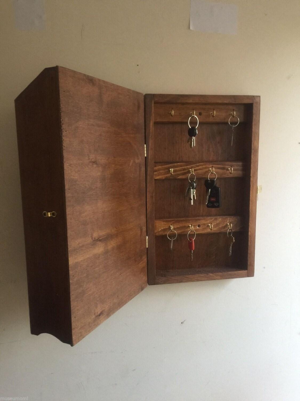 18h Hidden Key Box Amp Mail Organizer Handcrafted Wooden