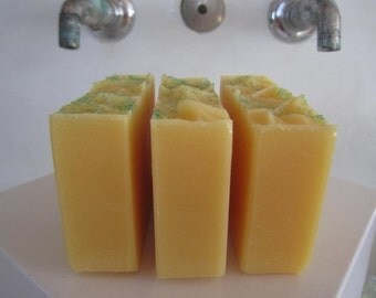 Lemongrass* Olive oil Soap bar (Vegan) Handcrafted/CP Soap/Shea Butter/Homemade Soap/Cold Process Soap