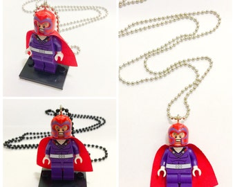 Lego® The X-Men MAGNETO Necklace, Lego Minifigurine Magneto Jewelry, BOGO Buy 1 Get 1 Lego® Minifigure Necklace, LEGO Theme Party Favor Gift
