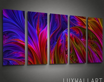 Abstract Metal Wall Art Color Depths Ready to Hang