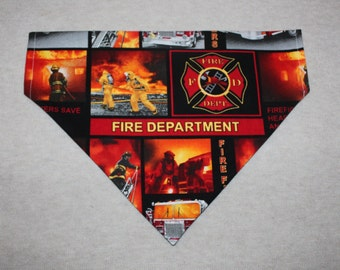 Firefighter Dog Bandana in Small, Medium & Large